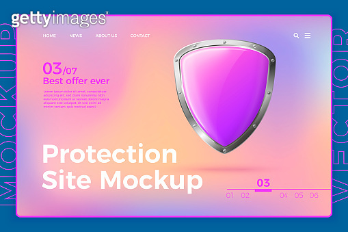 Vector protection site template with shield