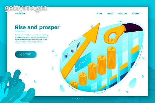 Vector hand with money business boost rising arrow