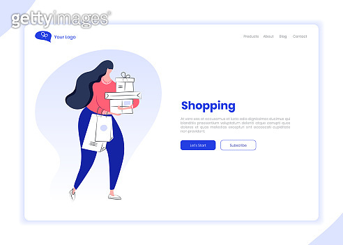Landing Page Template of Where to Buy, Shopping, Sale, Delivery