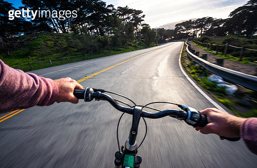 Cycling on a curving road - Biker point of view