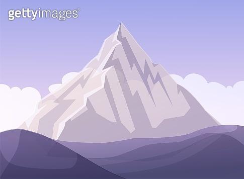 Flat Design Mountain Business Metaphor Cartoon