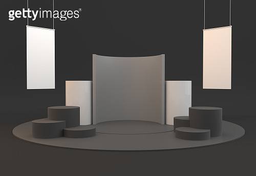 Simple Circle Base Exhibition Stand