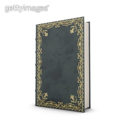 3D rendering Old Book isolated on white background