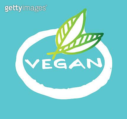 Vegan label poster
