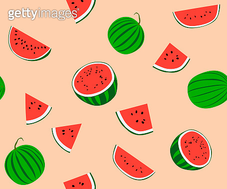 Water melon seamless pattern from Thailand