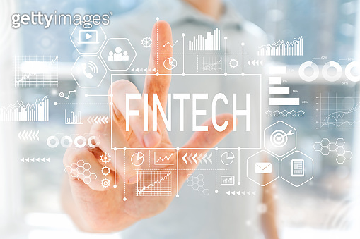 Fintech with young man