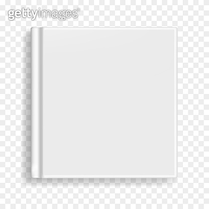 Square book, notebook or organizer cover template