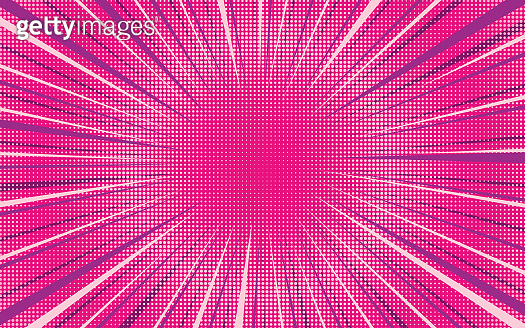 Bright pink exploding retro comic background