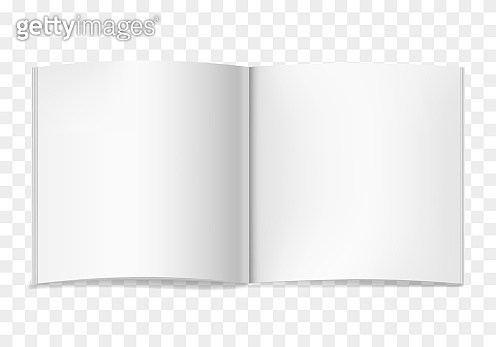 White vector realistic square opened book