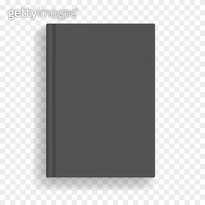 Black vector blank realistic A4 book mockup