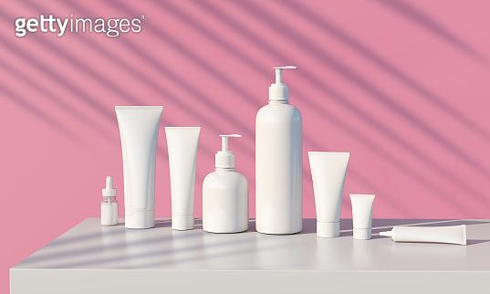 Cosmetic branding template.