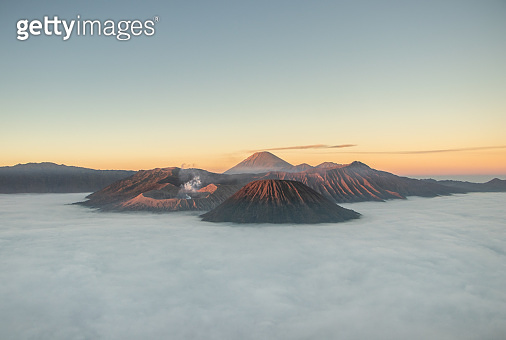 Indonesia famous place attraction for tourist Mount Bromo in east java is an active volcano and part of the Tengger massif, Java, Indonesia