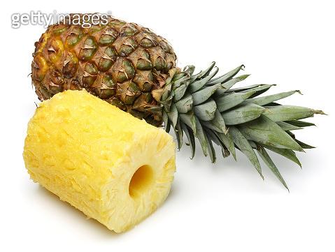 Fresh pineapple fruit isolated on white