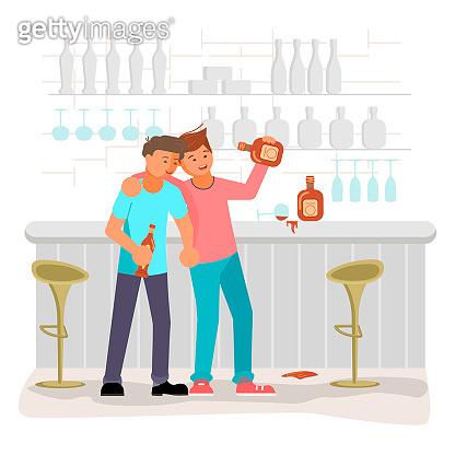 Alcoholism addiction concept.