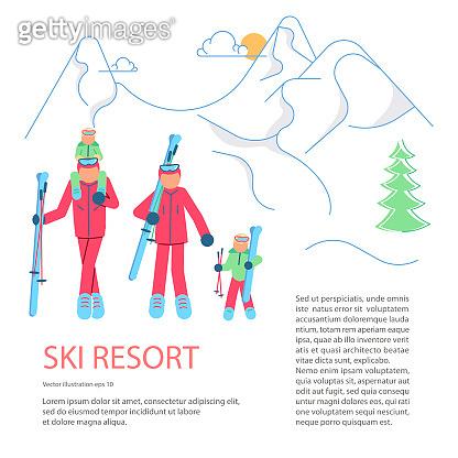 Banner template for Mountain Ski Resort.