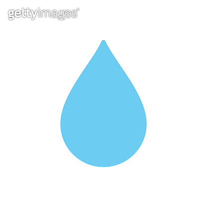 Water drop symbol - Vector rain drop icon