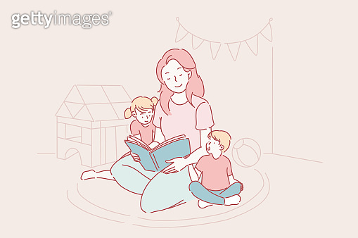 Mothers day, kindergarten, motherhood concept.