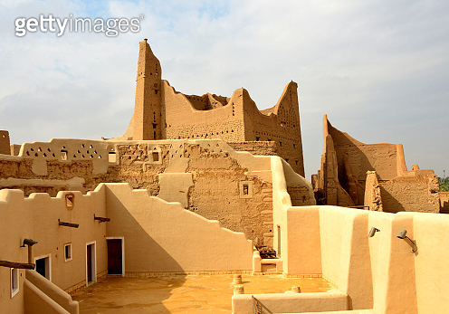 Ruins of Salwa Palace, Ad Diriyah, At-Turaif District - the birthplace of Wahhabism, UNESCO World Heritage Site, Riyadh, Saudi Arabia