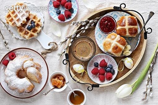 Easter festive dessert table