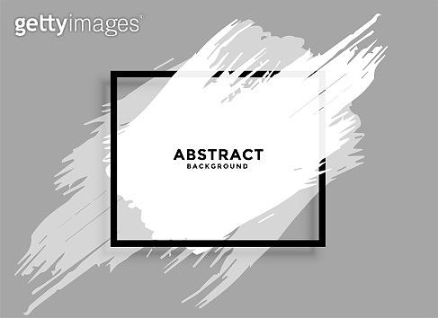 abstract white grunge frame banner