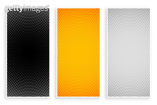 halftone patterns set in black yellow and white colors