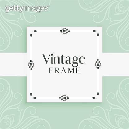 vintage invitation frame decorative background
