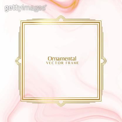 lovely ornamental decorative golden frame background