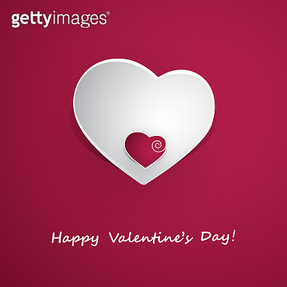 Greeting Card Design Template for Valentine's Day