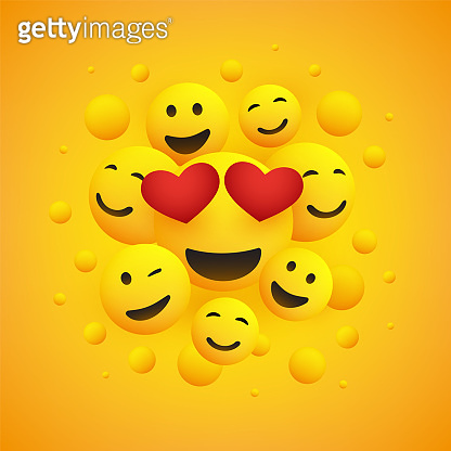 Various Smiling and Laughing Happy Emoticons