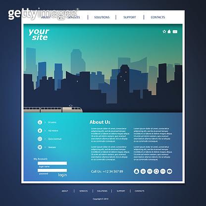 One Page Website Template - Urban Skyline