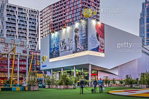 Theatre square with cinema