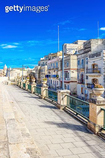 Maltese streetscape in Birgu, Malta