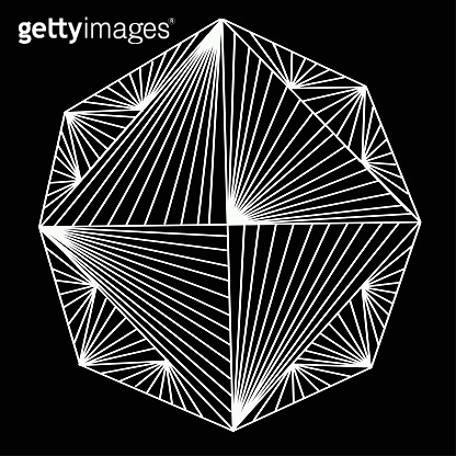 abstract angular figure vector art in black, idea for tattoo