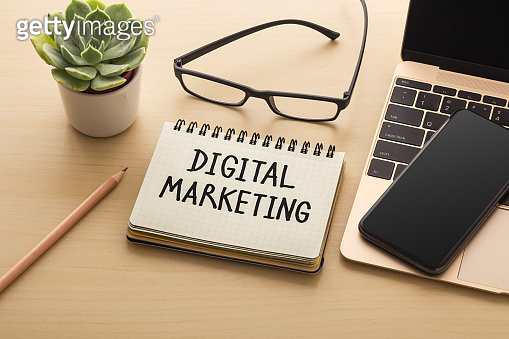 Digital marketing and strategy concept