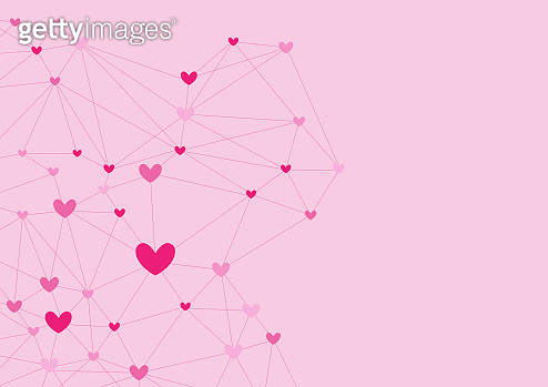 pink heart shape vector background, love and valentine day concept, relationship of man, space for text or message design