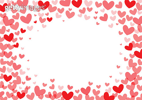 red heart shape vector on white background, love and valentine day concept, space for text or message design