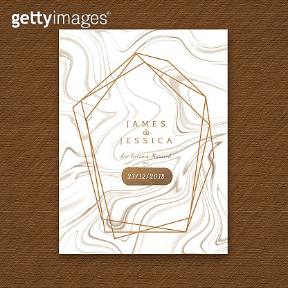 Abstract Marble Texture Wedding Invitation Card Template