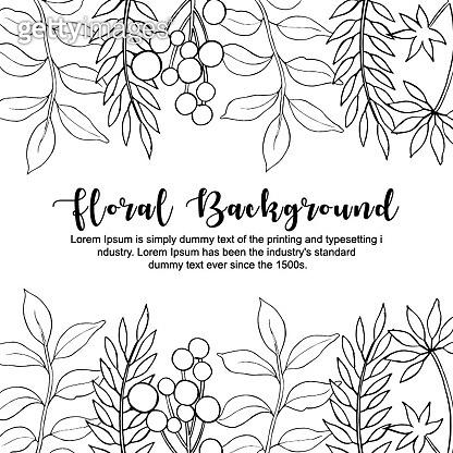 Handrawn Floral Background