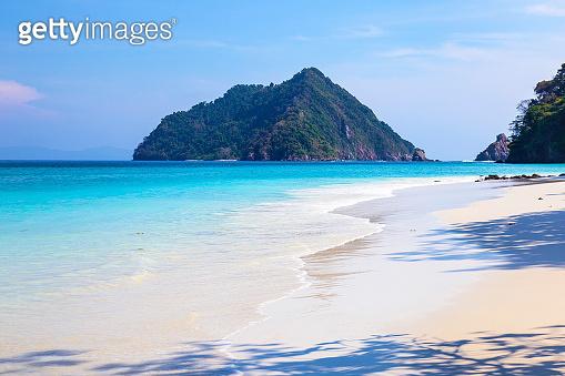 Beautiful beach and tropical sea at Nyaung Oo Phee Island, Myanmar.