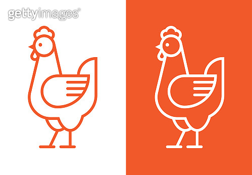 Chicken linear logo.
