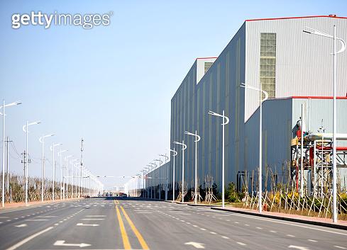 The environmental clean modern enterprise factory area