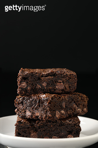 Stack Of Whole Wheat Brownies