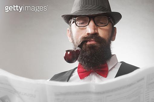 vintage man fashion portrait