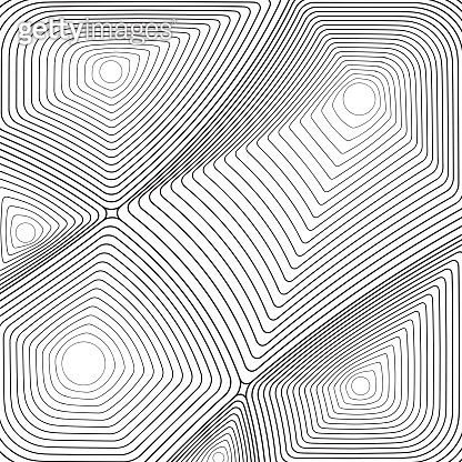 Black and white thin line abstract background
