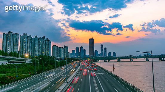 Traffic at Seoul City South Korea