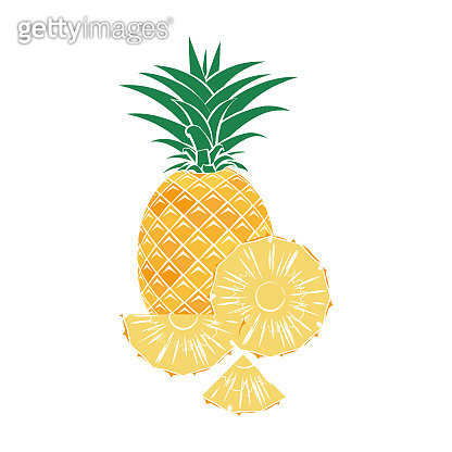 pineapple icon with sliced pineapple