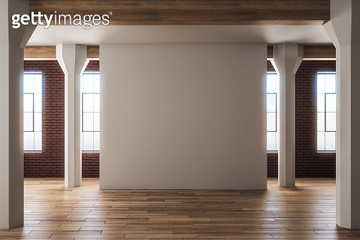 Blank interior with copyspace