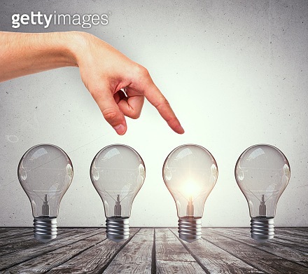 Choice, idea and success concept