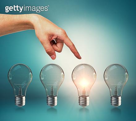 Choice, idea and leadership concept