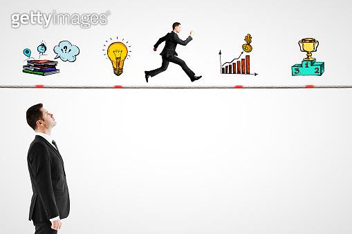 Brainstorm and idea concept